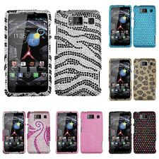 For Motorola Droid Razr HD XT926 Diamond Diamante Bling Rhinestone Case Cover