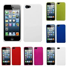 For Apple iPhone 5/5S/SE Rigid Plastic Hard Snap-On Case Phone Cover