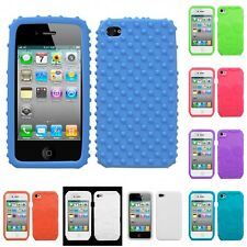 For Apple iPhone 4/4S Silicone Skin Rubber Soft Case Phone Cover
