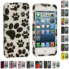 For iPhone 5 5G 5th Design Color Hard Snap-On Rubberized Case Skin Cover