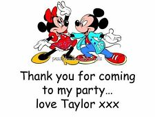 Mickey Mouse & Minnie Mouse Stickers - PERSONALISED ADDRESS STICKY LABELS x 42