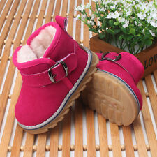 Baby Girl Winter Genuine Leather Children's Shoes Snow Boots Leather Toddler