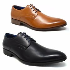 Xelay Mens Lace Up Pointed Toe Smart Wedding Dress Office Formal Shoes Size