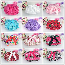 Baby Girls Toddler Kid Ruffle Bloomers Pants Briefs Diaper Nappy Cover Bottoms