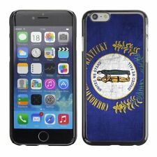 Hard Phone Case Cover Skin For Apple iPhone Kentucky Flag US State Metal effect