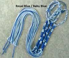 Tzitzit,Tassles, Braided loop, Royal Blue / Baby Blue Judaica/Messianic Fringes