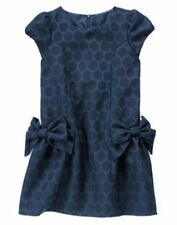 NWT Gymboree HOLIDAY SHINE  Blue Sparkle Dot Bow Dress SZ 7 Christmas Girls