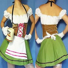 Sexy Gretchen Oktoberfest Heidi German Beer Maid Girl Outfit Fancy Dress Costume