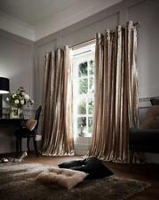 NEW Mink Eyelet Ring Top Soft Faux Fur Shiny Stripes Pair of Curtains 4 Sizes