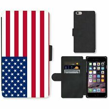 Phone Card Slot PU Leather Wallet Case For Apple iPhone us USA United States Ame