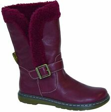 Original Classic Doc Dr Martens Slip On Boots Brielle Cherry Red 15343602