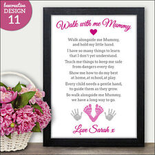 Walk with me Mummy Personalised Mothers Day Gifts Poem Mum Mummy Mother Nanny