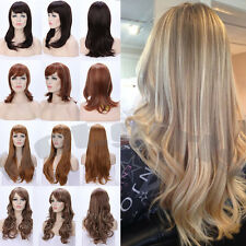 Soft Touch AS Real Remy Hair Full Wig 100% Long Thick Synthetic Hair Wigs Ombre