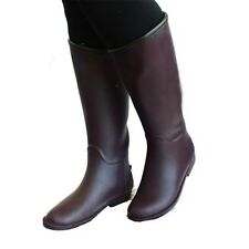 Ladies Slim Fit Wellington Boots / Rain Boots with orange lining
