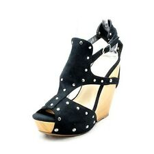 Womens platform high heel studded wedge sandals / shoes
