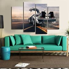 HD Back To The Future DeLorean Car Painting Home Decor Wall Art Canvas Painting