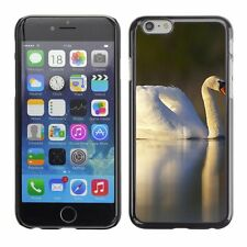 Hard Phone Case Cover Skin For Apple iPhone White swan bird and reflection