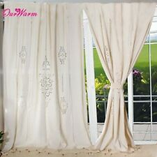 HotTube Curtain French Country Cotton Linen Crochet Lace Panel Drape customize f
