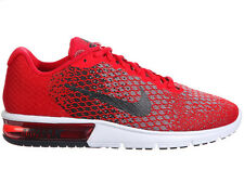 NEW MENS NIKE AIR MAX SEQUENT 2 RUNNING SHOES TRAINERS UNIVERSITY RED / BLACK