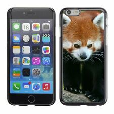 Hard Phone Case Cover Skin For Apple iPhone Red panda with black legs