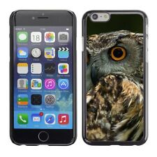 Hard Phone Case Cover Skin For Apple iPhone Scared owl turns head back