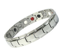 Women Mens Titanium Stainless Steel Natural Magnetic Energy Therapy Bracelet