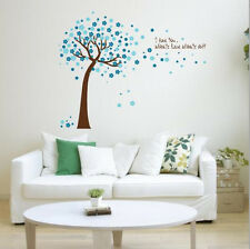 Pink Blue Tree Love Wall Stickers Decals Home Decor Art Removable Vinyl Murals