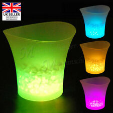 LED Changing Colour Ice Bucket Champagne Wine Drinks Cooler Retro Party Bar Gift