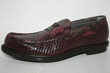 NIB YSL YVES SAINT LAURENT MEN SNAKESKIN PYTHON LOAFERS SHOES SZ 8 9