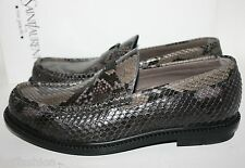 NIB YSL YVES SAINT LAURENT PARIS MEN KENNEDY PYTHON LOAFERS SLIP ON SHOES 40 7