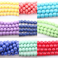 20/50Pcs Glass Round Loose Bead Spacer Pearl Charms Beads Jewelry Accessory 8mm