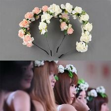 Flower Garland Floral Bridal Headband Hairband Wedding Prom Hair Accessories LE