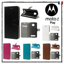 Etui porte-carte coque housse Wallet card slot Cover case MOTOROLA Moto Z Play