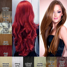 Hot Glueless Ombre Curly Wave Full Wig Best Synthetic Hair Costume Cosplay Wigs