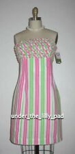 NWT Lilly Pulitzer FRANCO Seersucker RUFFLE DRESS 00 0 2 Strapless CLEARANCE