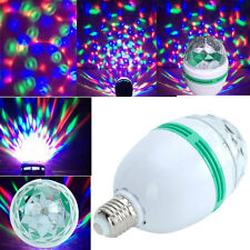 E27 3W LED RGB Crystal Magic Ball Rotating For Disco Party Stage Lamp Light New