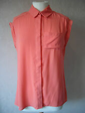 NEW ex Atmosphere - size: 8 - 18 - lovely CORAL Red LADIES TOP/Blouse - BNWoT