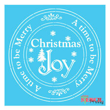 Christmas Joy stencil template - Paint Your Self- wall art furniture airbrush |