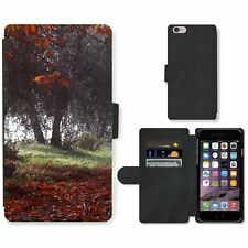 Phone Card Slot PU Leather Wallet Case For Apple iPhone Trees loosing the last l