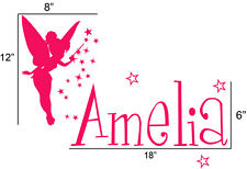 Personalized Name fairy removable vinyl wall decal