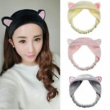 Gift Hair Accessories Hair Head Band Wash Shower Cap Cute Cat Ears Headband