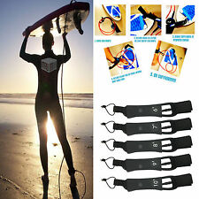 6' - 10' Surfboard Leash Leg Rope 7mm Legrope Double Stainless Steel Swivels {