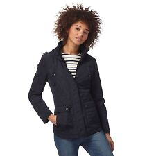 Maine New England Womens Navy Quilted Jacket From Debenhams