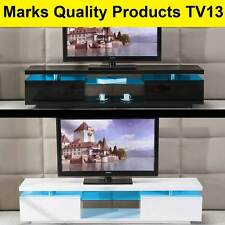 TV Entertainment Unit Stand Gloss Cabinet LED Lowline Shelf TV13 White & Black