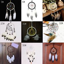 Dream Catcher Net With Feathers Handmade Wall Hanging Decoration Home Car Decor