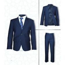 Boys Wedding Suits Formal Pageboy Navy Blue Suit Boy Communion Dress Wear 4 PC