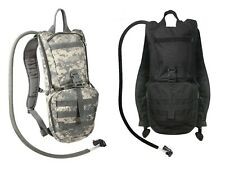 Black ACU Camo 3 Liter H2O Water MOLLE Hydration System Hiking Hunting Backpack