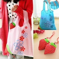Recycle 8 Colors Cute Strawberry Reusable Bag Shopping Tote Bags Eco Handbag