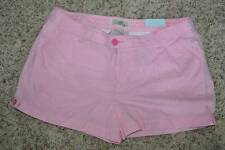 NWT-Juniors Girls SO Pink Striped Tab Summer Cotton Shorts-1, 3, 5, 7, 9, 11, 13