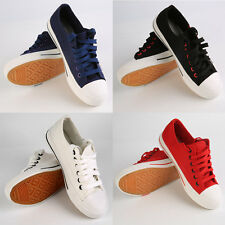 4 Colors Canvas Women Lace-up Side Zipper Help Low Flat Casual Shoes 36-40 SY